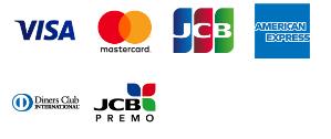 利用可能なクレジットカード会社のロゴイラスト