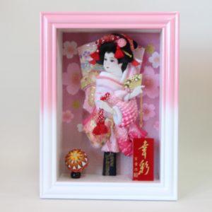 羽子板幸彩白ピンクの写真