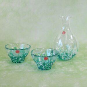 ガラス製冷酒セットの画像
